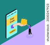 instant personal loan  quick... | Shutterstock .eps vector #2030247923