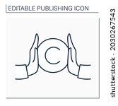 copyright line icon. copyright... | Shutterstock .eps vector #2030267543