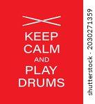 play drums vector banner...   Shutterstock .eps vector #2030271359
