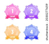 set of winner medals for game... | Shutterstock .eps vector #2030277659