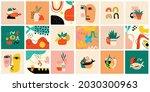 set of hand drawn various...   Shutterstock .eps vector #2030300963