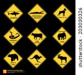 Animal warning sing vector symbol design - stock vector