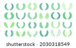 laurel wreath award or heraldry ... | Shutterstock .eps vector #2030318549