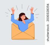 email search  open new mail... | Shutterstock .eps vector #2030328356