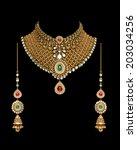 Close Up Of Diamond Necklace...