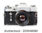 Vintage Slr Camera Isolated