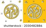 circuit board icon in comic...   Shutterstock .eps vector #2030482886
