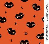 halloween vector seamless...   Shutterstock .eps vector #2030498903