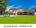 brand new farmer's house with... | Shutterstock . vector #203051164