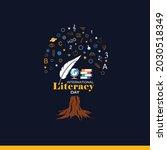 international literacy day... | Shutterstock .eps vector #2030518349