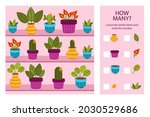 counting game. education kid in ... | Shutterstock .eps vector #2030529686