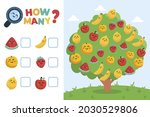 counting game. education kid in ... | Shutterstock .eps vector #2030529806