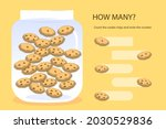 counting game. education kid in ... | Shutterstock .eps vector #2030529836
