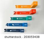 modern business steps to... | Shutterstock .eps vector #203053438