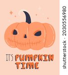 happy halloween pumpkin jack...   Shutterstock .eps vector #2030556980
