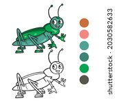 grasshopper coloring page for...   Shutterstock .eps vector #2030582633