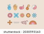 vector set of design elements ... | Shutterstock .eps vector #2030593163