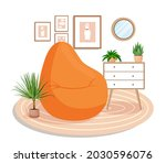 cute interior with modern... | Shutterstock .eps vector #2030596076