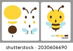 bee pattern for kids crafts or...   Shutterstock .eps vector #2030606690