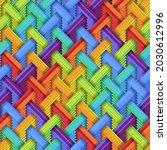 Seamless Texture With Diagonal...