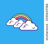 cloud and rainbow icon or logo...