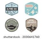 vintage mountain ski badges... | Shutterstock . vector #2030641760
