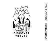vintage simple camp logo design.... | Shutterstock . vector #2030641763