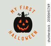 vintage halloween typography... | Shutterstock . vector #2030641769