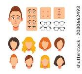 woman face constructor  facial... | Shutterstock .eps vector #2030662493