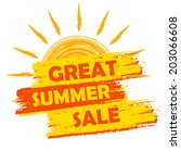 great summer sale banner   text ... | Shutterstock . vector #203066608