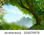 natural view through a... | Shutterstock .eps vector #203070970