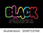 modern vibrant color black font ... | Shutterstock .eps vector #2030713760