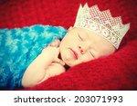 newborn baby | Shutterstock . vector #203071993
