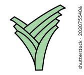vector leek filled outline... | Shutterstock .eps vector #2030755406