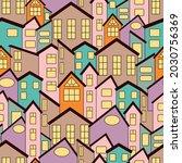 vector seamless pattern of... | Shutterstock .eps vector #2030756369