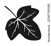 ivy leaf in silhouette vector... | Shutterstock .eps vector #2030759180
