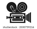 vintage movie camera or cinema... | Shutterstock .eps vector #2030759216