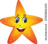 a starfish cartoon vector art...   Shutterstock .eps vector #2030806103