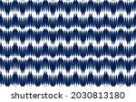 white and blue ikat ethnic...   Shutterstock .eps vector #2030813180
