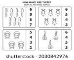 count all school supplies and... | Shutterstock .eps vector #2030842976