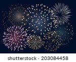 background with colorful... | Shutterstock .eps vector #203084458