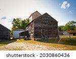 The Threshing Barn On The Farm...