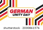 german unity day. celebrated... | Shutterstock .eps vector #2030861576