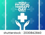 world physical therapy day.... | Shutterstock .eps vector #2030862860