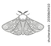 decorative fantastic moth.... | Shutterstock .eps vector #2030865410
