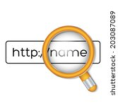 browser search with magnifier....   Shutterstock .eps vector #203087089