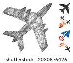 vector network aircraft....   Shutterstock .eps vector #2030876426