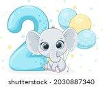 """cartoon illustration """"happy...   Shutterstock .eps vector #2030887340"""