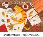 Cozy Autumn. Vector...