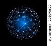 blue internet web envelopes... | Shutterstock .eps vector #203090620